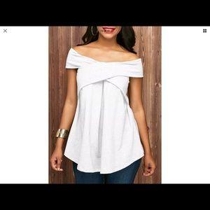White Off Shoulder Top (NWOT)!!
